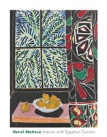 Interior with Egyptian Curtain, 1948 Fine Art Print