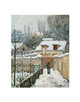 Snow at Louveciennes, 1874 Fine Art Print
