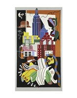 New York Mural, 1932 Fine Art Print