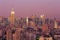 Sunset over Manhattan Fine Art Print