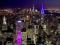 Midtown and Lower Manhattan at Night Fine Art Print