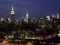 Midtown Manhattan at Night 1 Fine Art Print