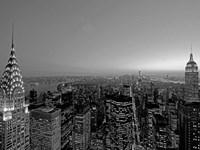 Midtown and Lower Manhattan at dusk Fine Art Print