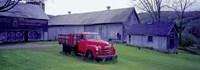 Red Vintage Pickup Fine Art Print