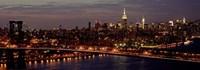 Midtown Manhattan and Williamsburg Bridge 1 Fine Art Print