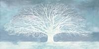 Aquamarine Tree Framed Print