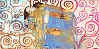 Klimt's Embrace 2.0 Framed Print