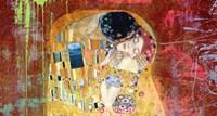 Klimt's Kiss 2.0 (detail) Framed Print
