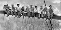 New York Construction Workers Lunching on a Crossbeam, 1932 (detail) Framed Print