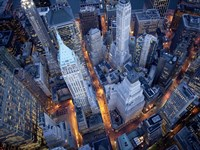 Aerial View of Wall Street Fine Art Print