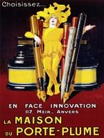 La Maison du Porte-Plume, 1924 Fine Art Print