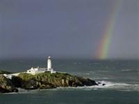 Rainbow over Fanad-Head, Ireland Fine Art Print