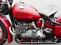 Vintage American Motorbike (detail) Fine Art Print