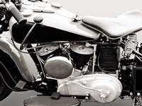 Vintage American V-Twin Engine (detail) Fine Art Print