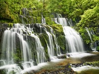 Waterfall Purakaunui Falls, New Zealand Fine Art Print