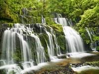 Waterfall Purakaunui Falls, New Zealand Fine Art Print