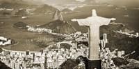 Overlooking Rio de Janeiro, Brazil Framed Print
