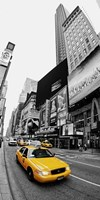 Taxi in Times Square, NYC Fine Art Print