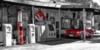Vintage Gas Station on Route 66 Fine Art Print