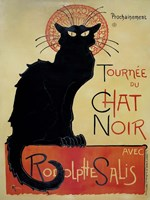 Tournee Du Chat Noir (Yellow Background) Fine Art Print
