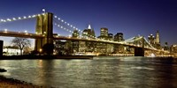 Panoramic View of Lower Manhattan at dusk, NYC Fine Art Print