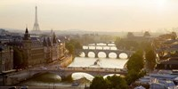 Bridges over the Seine River, Paris Sepia Fine Art Print