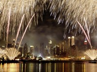 Fireworks on Manhattan, NYC Fine Art Print