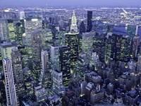 Manhattan Skyline at dusk, NYC Fine Art Print
