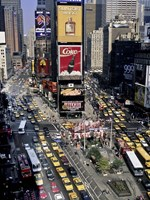 Traffic in Times Square, NYC Fine Art Print