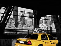 Taxi on the Queensboro Bridge, NYC Fine Art Print