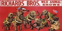 Richards Bros. Wild Animal Shows, ca. 1925 Fine Art Print