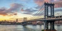 Manhattan Bridge at Sunset, NYC Fine Art Print