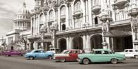 Vintage American Cars in Havana, Cuba Framed Print