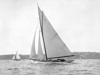 Victorian sloop on Sydney Harbour, 1930 Fine Art Print