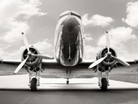 Vintage DC-3 in air field Fine Art Print