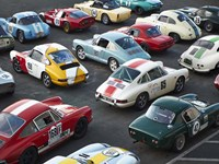 Vintage sport cars at Grand Prix, Nurburgring Fine Art Print