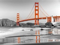 Baker Beach and Golden Gate Bridge, San Francisco 1 Fine Art Print