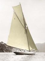Vintage yacht Fine Art Print