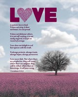 Corinthians 13:4-8 Love is Patient - Pink Field Fine Art Print