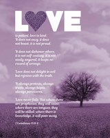 Corinthians 13:4-8 Love is Patient - Lavender Field Framed Print