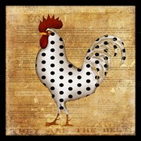 Chicken Polka Dot Fine Art Print