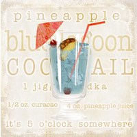 Blue Lagoon Cocktail Fine Art Print