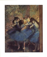 Blue Dancers Fine Art Print