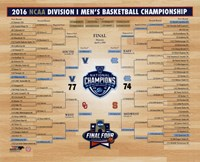 Villanova Wildcats 2016 NCAA Men's Basketball National Champions Bracket Fine Art Print
