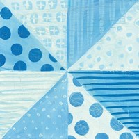 Modern Americana VIII Blue Framed Print