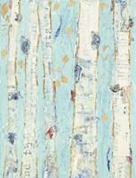 Far From Blue II Gold Leaves Fine Art Print