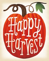 Harvest Time Happy Harvest Pumpkins Fine Art Print