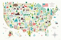 Illustrated USA Fine Art Print