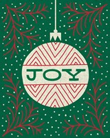 Jolly Holiday Ornaments Joy Fine Art Print