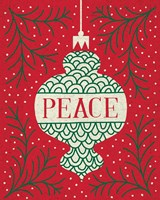 Jolly Holiday Ornaments Peace Fine Art Print